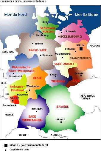 Carte Allemagne Lander.Lander